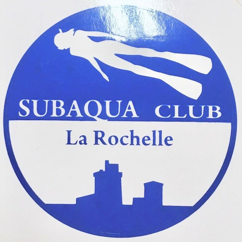 Autocollant_subaqua_la_rochelle_Club_plongée_hockeysubaquatique_Bleu_Blanc_Logoclub